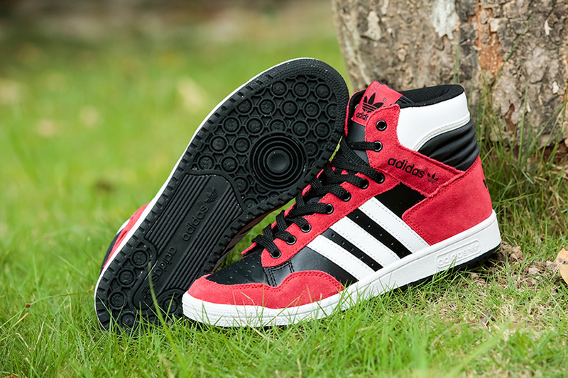 finest selection a2cff 06e79 adidas 2014 hommes trefle dongkuan chaussures haute aide des marees rabais  rouge blanc noir