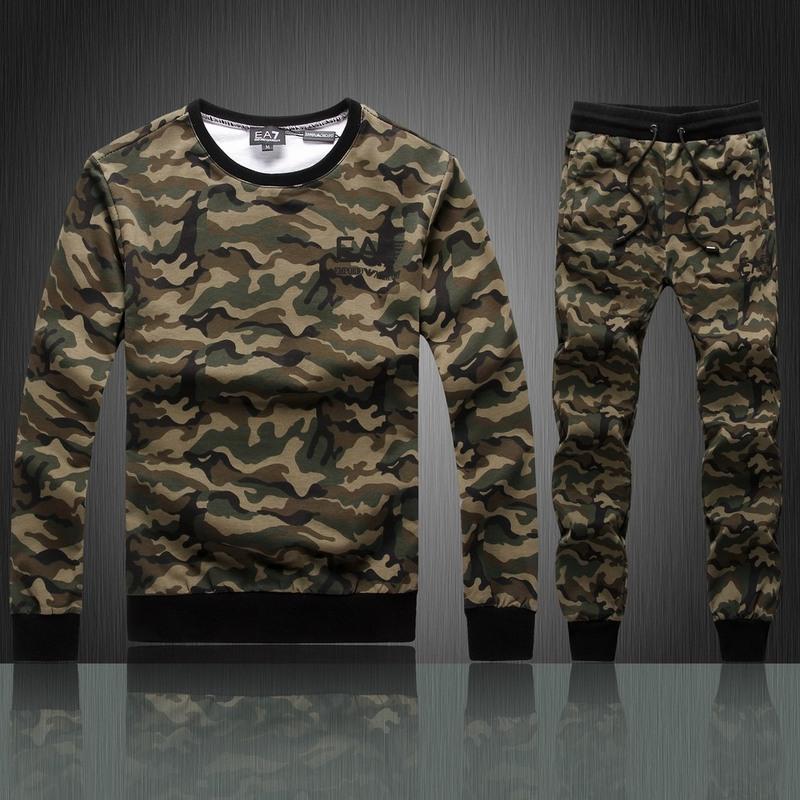 armani ea7 hommes jogging suit armee style col round de  armini ... 4510d55028f