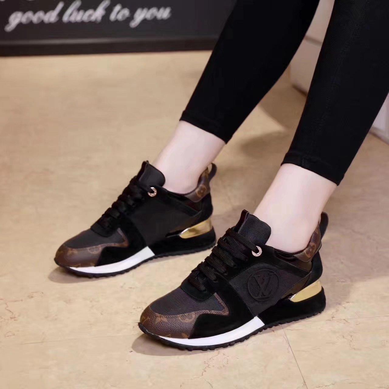baskets louis vuitton femmes mode supreme comfortable black
