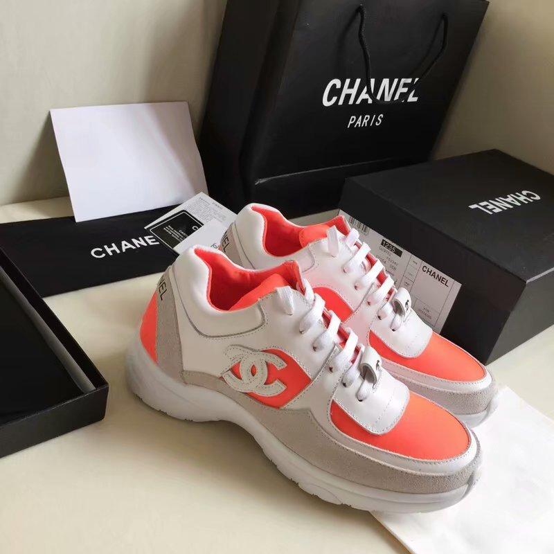 8e2b72a67c3 chaussure chanel femme basket prix gym chaussures cowhide orange de ...