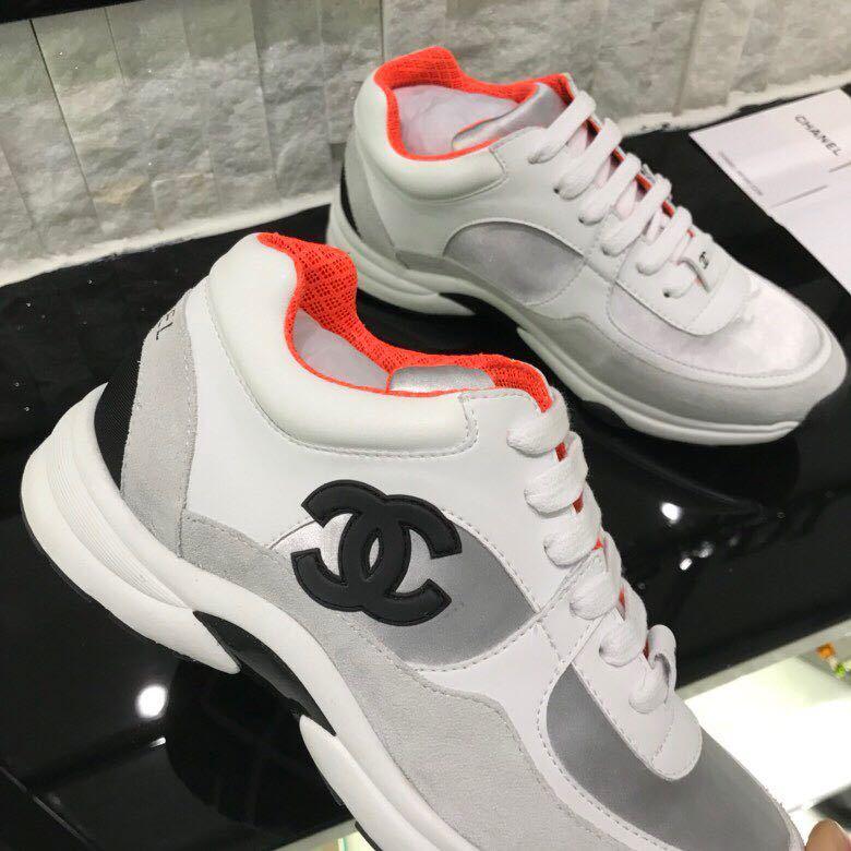 chaussure chanel femme basket prix leisure sports chaussures orange ... 03e2afd2ec7