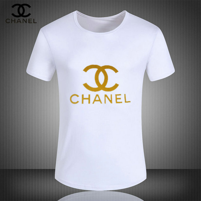 c865f4e460b coco chanel tee shirt short sleeve center gold mark white de  t ...