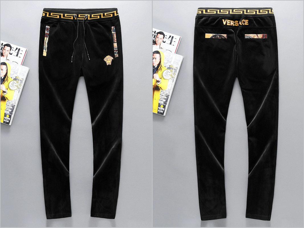 pas cher pour réduction d046d e167f jogging versace survetement veste pantalon luxe velours or ...