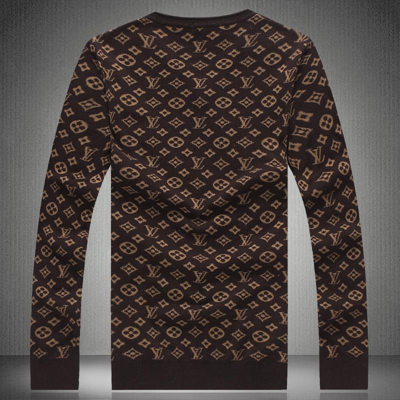 7f141f8b3808 louis vuitton hommes pulls nouvelles promotions occasionnelles brun ...