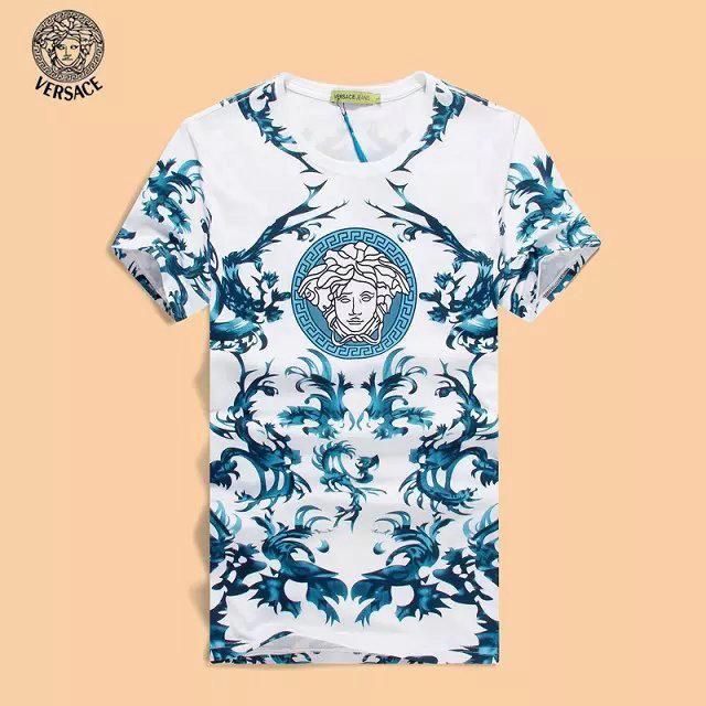 aaaf5b03084 hommes versace t-shirt collections summer printemps ressort vert de ...