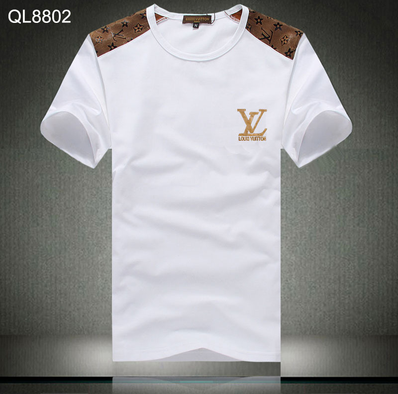 hommes louis vuitton t shirts pas cher new cotton gold. Black Bedroom Furniture Sets. Home Design Ideas