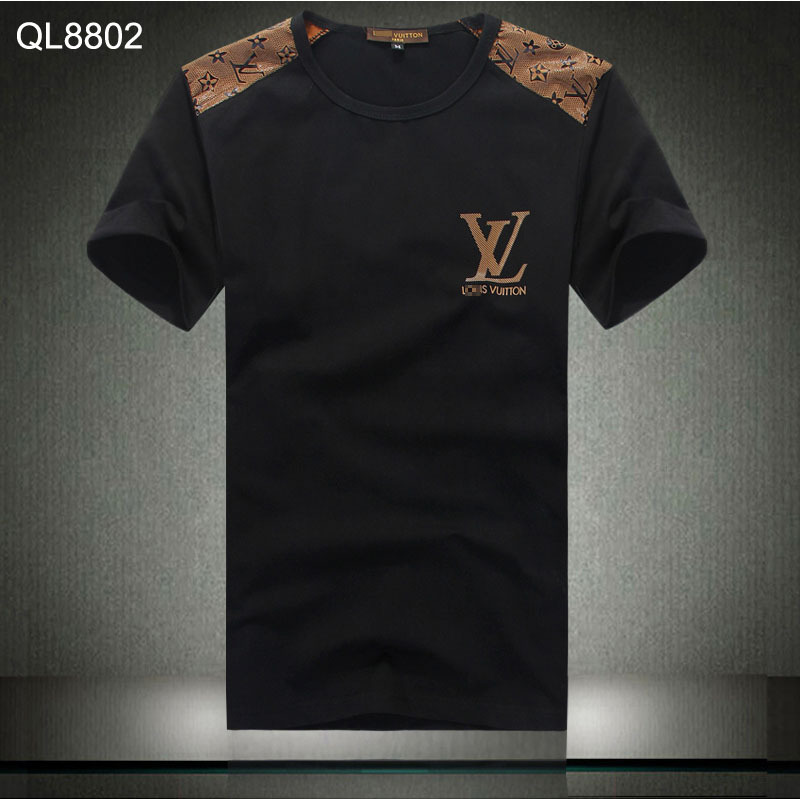 hommes louis vuitton t shirts pas cher new cotton lt1 de. Black Bedroom Furniture Sets. Home Design Ideas