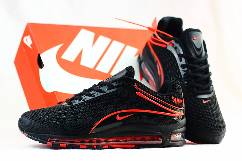 the latest f18fe bab84 hommes nike air max deluxe chaussures 2018 nike 1999 black red