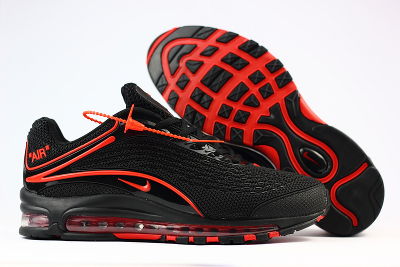 the latest c700f 4dc99 hommes nike air max deluxe chaussures 2018 nike 1999 black red
