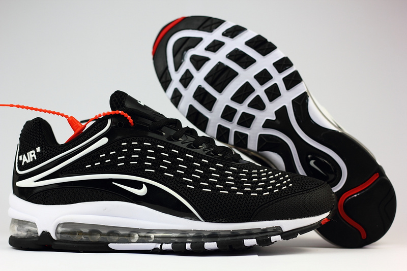 low priced 0e99f 77e4e hommes nike air max deluxe chaussures 2018 nike 1999 black whit