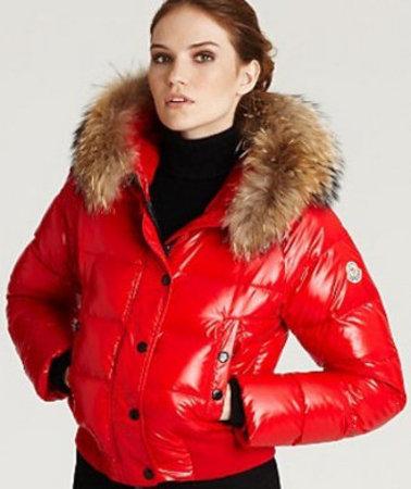 Manteau moncler femme rouge