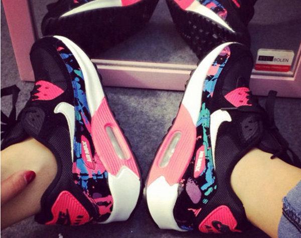 nike air max 90 2014 femmes chaussures la protection des pieds femmes pasteque rouge de eur 53. Black Bedroom Furniture Sets. Home Design Ideas