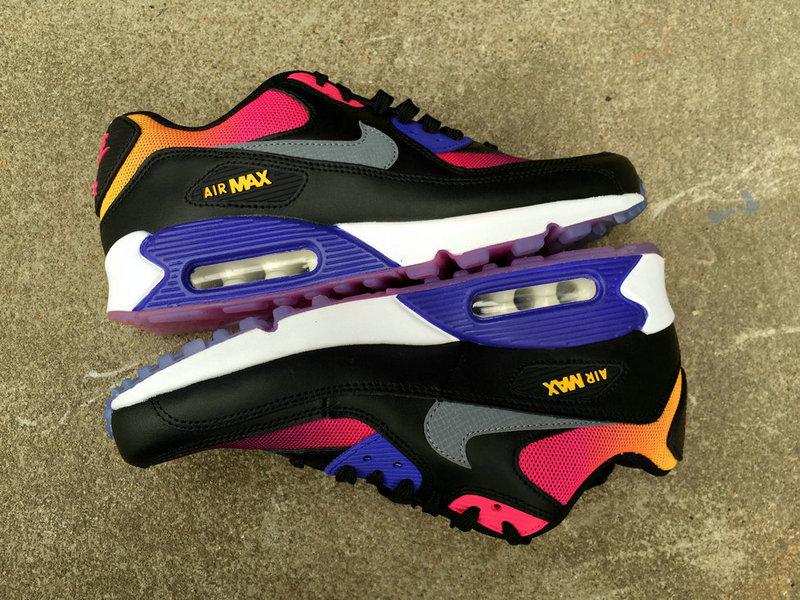 sélection premium 0d606 5c8ca nike air max 90 chaussures femmes infrared purple noir de ...