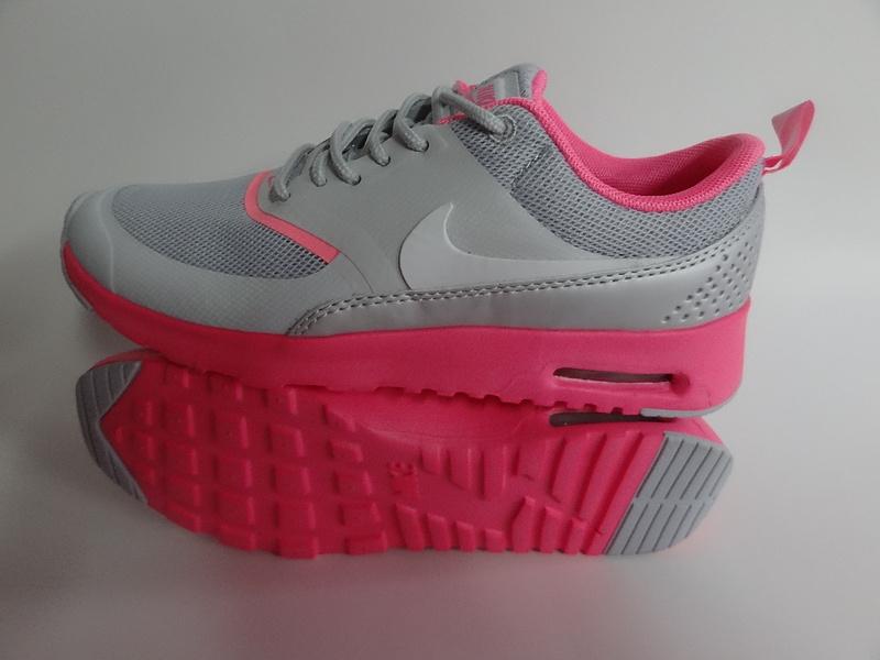 nike air max femmes 2014 modeles explosion mode bon marche glissent sport  pink gris db228a16a41b