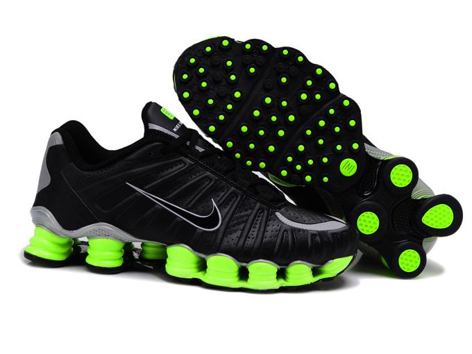 separation shoes 90830 436ad nike chaussures shox tlx nouveau homme etoile jogging pas cher noir vert