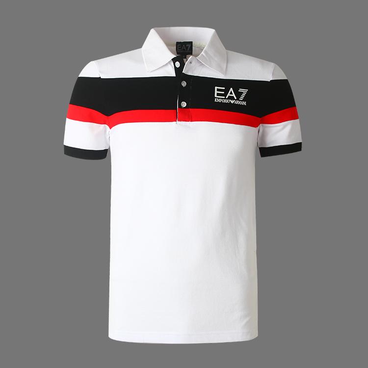 nouveau armani ea7 t shirt homme mode style hot sale 5307 blanc