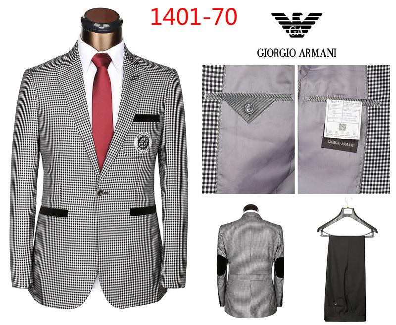 f8c31c0cf8c ... nouveau Costumes Armani 2014 homme classique populaire hot sale Gris ws