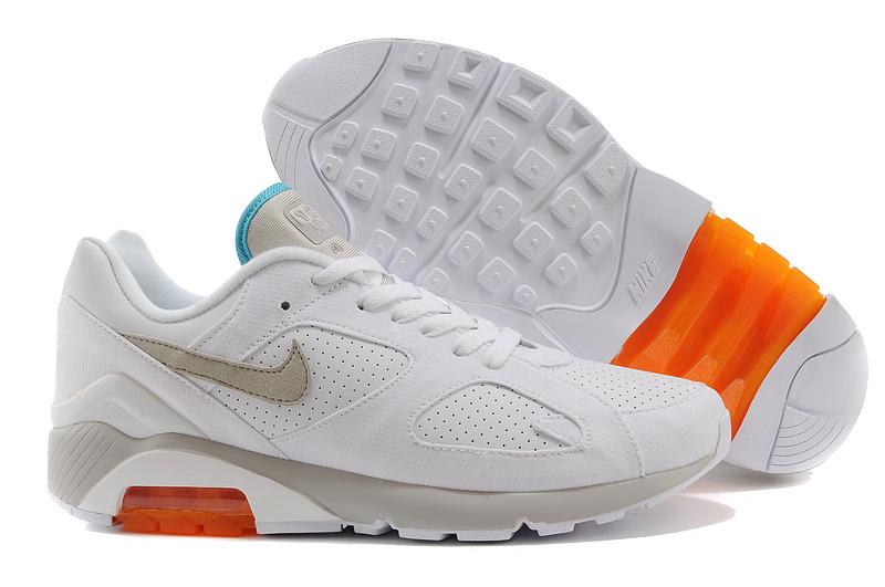 quality design b3291 4865f ... nouveau Nike Air Max 180 haute qualite jogging homme pas cher Blanc  Orange