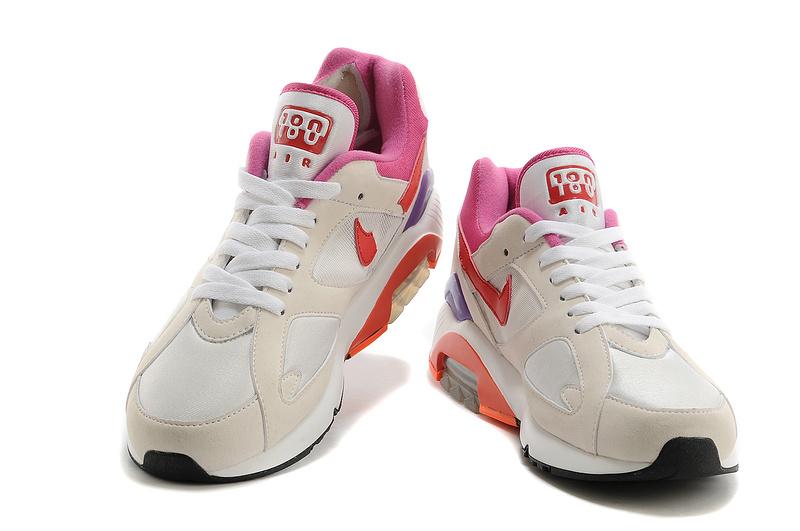 online retailer 00717 7fc99 nouveau nike air max 180 haute qualite jogging homme pas cher blanc rouge