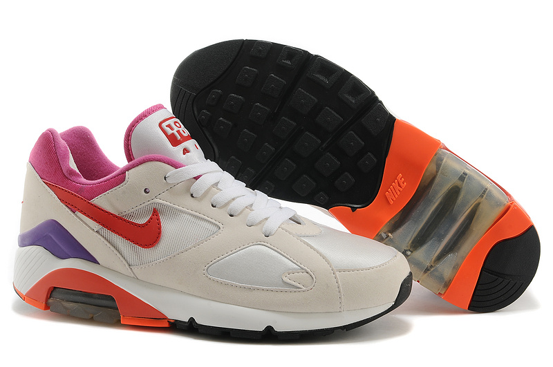 cheaper 48be0 2eeb1 2014 nike air max 180 hommes jogging leather chaussures pas cher 312 blanc  rouge