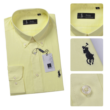 ba99a37d1d7 polo ralph lauren chemises coton big pony yellow