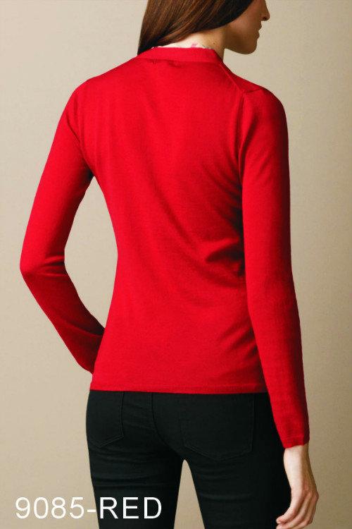 452190e4b4520 pulls maille femme burberry pas cher new red-9085 de  Burberry Pulls ...