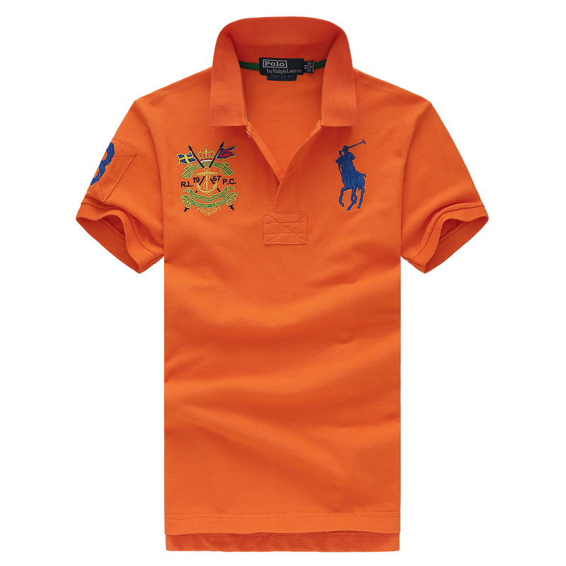 ... ralph lauren polo t shirt short sleeve man big pony eecker st orange da06e4e71b94