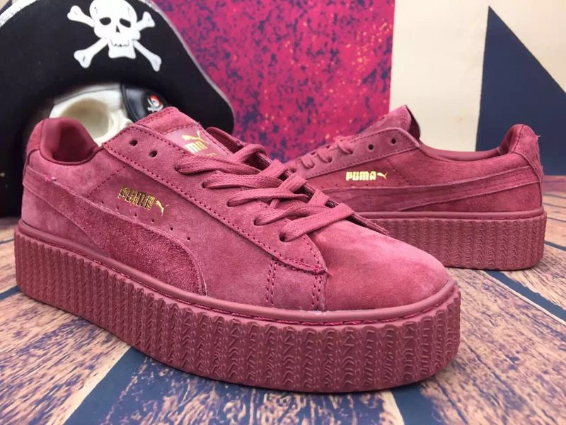 wholesale dealer 23c54 4c8eb aliexpress burgundy pumas fenty 5434a 89b73