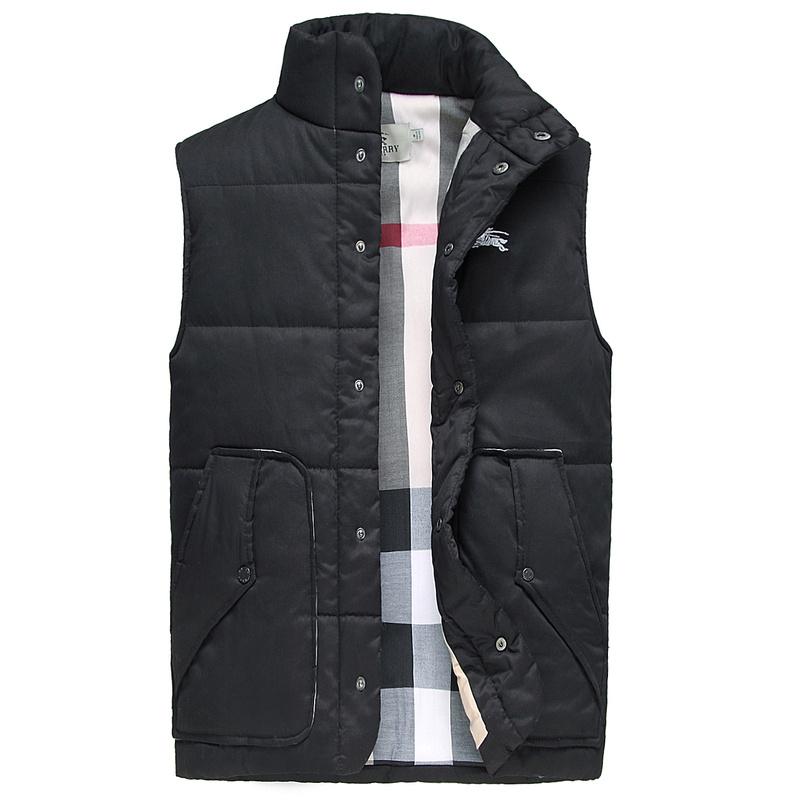 a5611ad5c31c sans manches hommes burberry veste chaud nouvelle tendance italie noir