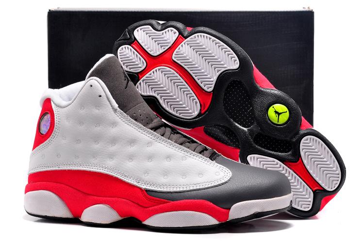 size 40 b6fc8 086eb chaussures air jordan 13 hommes cuir respirante pandablanc rouge noir