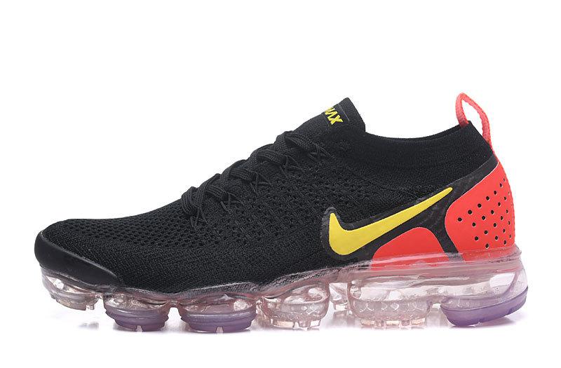 finest selection b7d85 20562 chaussures nike hommes air vapormax flyknit 2 femmes trainers noir  rouge942842-005