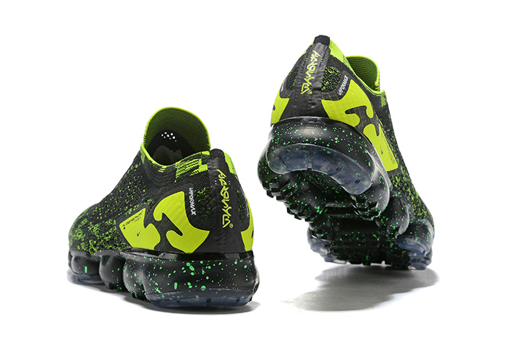 new styles 4afdf 7b888 chaussures nike hommes air vapormax flyknit 2 femmes trainers vert noir