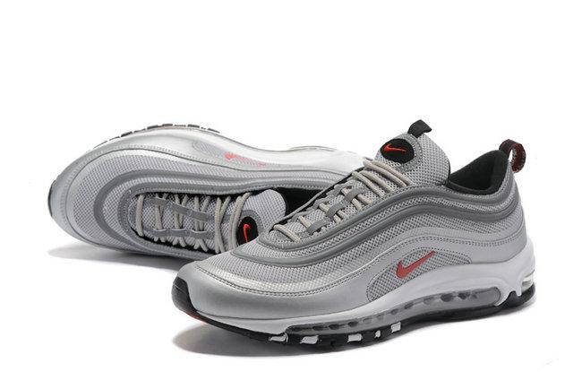meilleur service f68d5 d9d3d chaussures nike air max 97 premium rouge logo gris