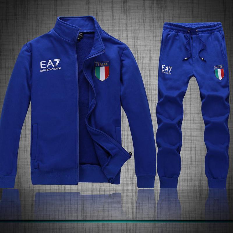 pretty nice cb6b0 bd69c tuta ea7 hoodie pour homme flag italy blue,armani tuta jako-o