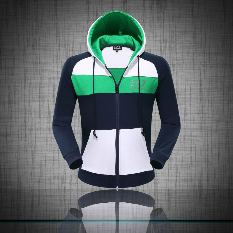 b9316e709fd survetement ea7 hoodie pour homme multicolore green blue coton ...
