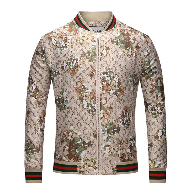 ca5ee7558606c veste bomber gucci jogging beige embroidery
