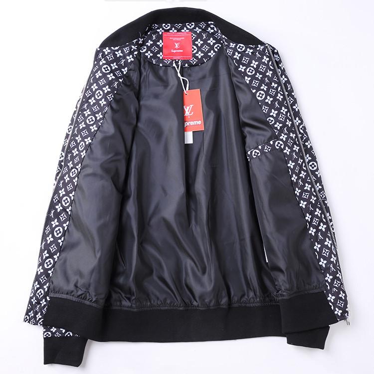 pas mal 00f4c 0fb59 veste supreme et louis vuitton hiver zipper cardigan black