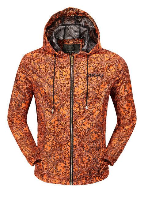 6d4f35351fc veste versace sport hommes sweatshirt gold orange hoodie de  VERSACE ...