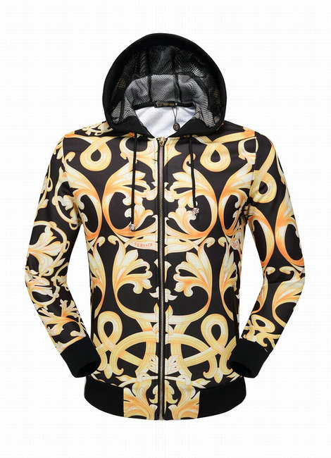 21a1f860083 veste versace sport hommes sweatshirt hoodie or de  VERSACE veste ...