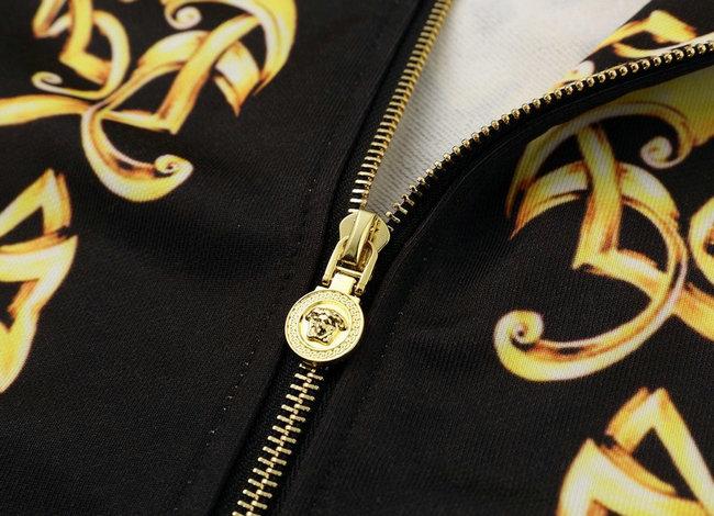 c101a236b34 veste versace sport hommes sweatshirt zipper gold flower de  VERSACE ...
