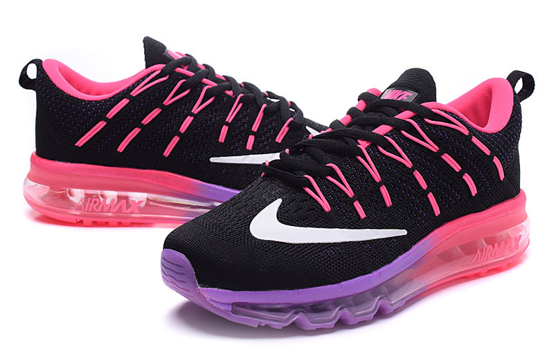 femmes basket nike air max 2016 six color spades rouge violet